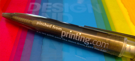 printed promotional pens